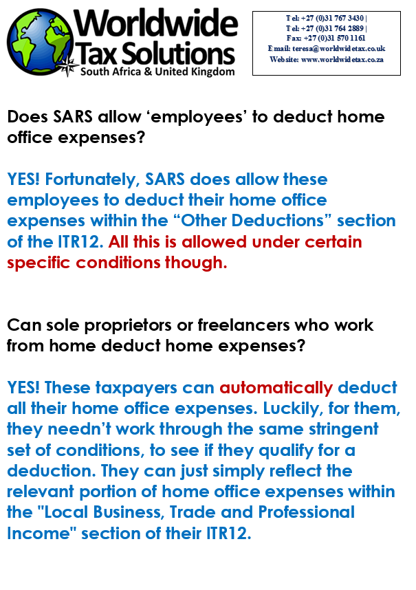 Home Office Tax Deduction South Africa - Office Decorating Ideas